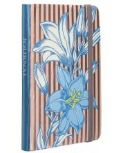 Carnetel cu elastic Carny - A6, 80 file, albastru cu dungi -1