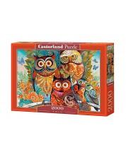 Puzzle Castorland de 2000 piese - Bufnite
