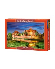 Puzzle Castorland de 1000 piese - Castelul Malbork in Polonia