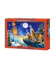 Puzzle Castorland de 1000 piese - Lupi noaptea