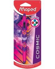 Pix cu 4 culori Maped Twin Tip - Cosmic, corp roz
