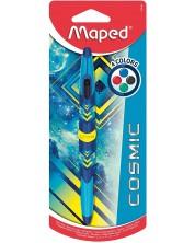 Pix cu 4 culori Maped Twin Tip - Cosmic, corp albastru