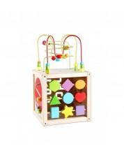 Cub didactic din lemn pentru copii Clasic World -1