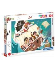 Puzzle Clementoni de 104 piese - Piratii
