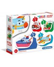 Puzzle bebeb Clementoni 4 in 1 - Vehicule