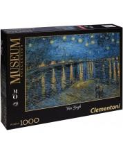 Puzzle Clementoni de 1000 piese - Noapte instelata peste Ron, Vincent van Gogh