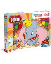Puzzle Clementoni de 104 maxi piese - Dumbo