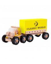 Camion din lemn pentru copii - Transportor de containere Classic World -1