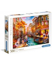 Puzzle Clementoni de 500 piese - Apus se soare peste Venetia, Dominic Davison