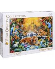 Puzzle Clementoni de 1000 piese - Tigrii misteriosi, Jan Patrik Krasny