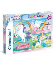 Puzzle Clementoni  3 X 48 piese - Eu cred in unicorni