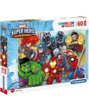Puzzle Clementoni de 60 piese maxi - Marvel Super Hero