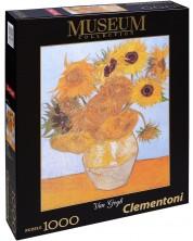 Puzzle Clementoni de 1000 piese - Floarea soarelui, Vincent van Gog