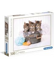 Puzzle Clementoni de 500 piese - Pisici si sapun