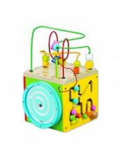 Cub didactic din lemn colorat Clasic World -1