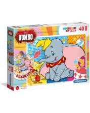 Puzzle de podea Clementoni de 40 piese - Dumbo