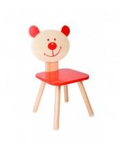 Scaun ursulet din lemn pentru copii Classic World - Rosu -1