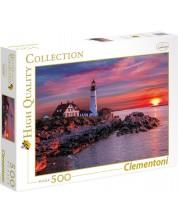 Puzzle Clementoni de 500 piese - Far in Portland