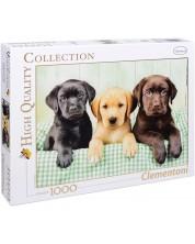 Puzzle Clementoni de 1000 piese - Trei labradori