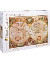 Puzzle Clementoni de 1000 piese - Harta antica a lumii