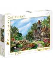 Puzzle Clementoni de 500 piese - Vila langa rau, Dominic Davison