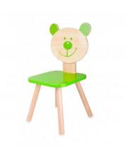 Scaun ursulet din lemn pentru copii Classic World - Verde -1