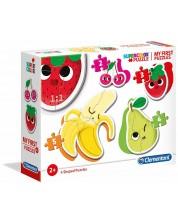 Puzzle bebe Clementoni 4 in 1 - Fructe si legume