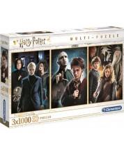 Puzzle Clementoni din 3 x 1000 piese -Harry Potter
