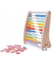 Abac din lemn Classic World - Abac multicolor din lemn -1