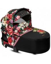 Landou pentru nou-nascuti Cybex  Priam Lux Spring Blossom, negru -1