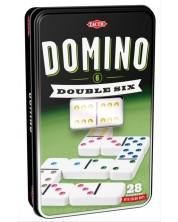 Joc clasic Tactic -Domino 6, in cutie metalica