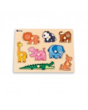Puzzle din lemn cu manere Andreu toys - Jungla -1