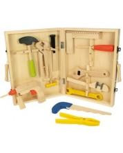 Set de joaca din lemn Bigjigs - Cutie cu instrumente -1