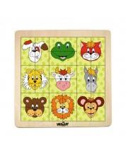 Puzzle din lemn Woody - Animale II -1