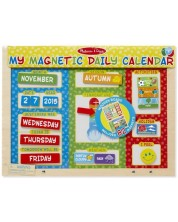 Calendar magnetic din lemn Melissa & Doug - In limba engleza -1