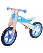 Bicicleta de balans din lemn Bigjigs - Albastra -1