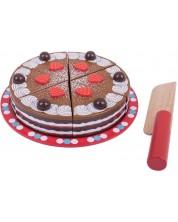 Jucarie din lemn Bigjigs -Tort de ciocolata -1