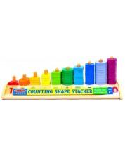 Jucarie colorata de stivuit din lemn Melissa & Doug - Cu cifre si forme -1