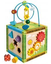 Cub din lemn Eichhorn - Centru de joc, cu activitati -1