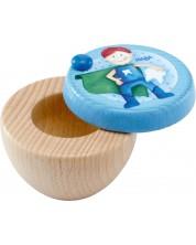 Cutie de lemn pentru dinti de lapte Haba - Supererou -1