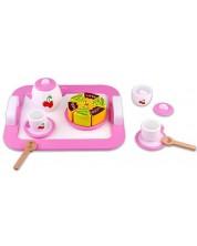 Set de ceai din lemn Tooky Toy - Cirese -1