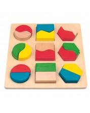 Puzzle din lemn cu forme Woody -1