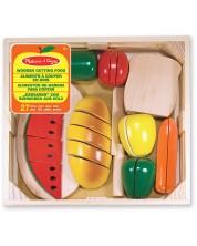 Set de taiat din lemn Melissa & Doug - Produse alimentare -1