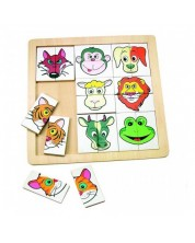 Puzzle din lemn Woody - Animale -1