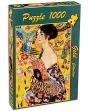 Puzzle Gold Puzzle de 1000 piese - Doamna cu evantai