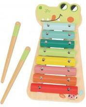 Jucarie muzicala din lemn Tooky Toy - Xilofon -1
