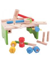 Set din lemn Bigjigs - Atelier cu instrumente -1