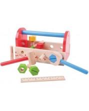 Set din lemn Bigjigs - Cutie cu instrumente -1