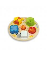 Puzzle din lemn  Andreu toys - Cifre, forme si culori -1