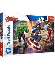Puzzle pentru copii Trefl de 24 XXL piese - In the world of Avengers